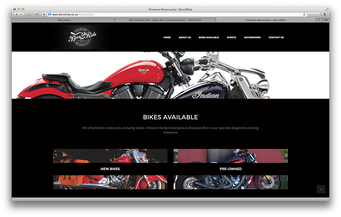 born2ride website bikes available