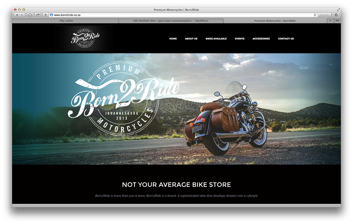 born2ride bike website